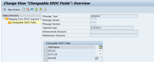 Editing idoc content configuration