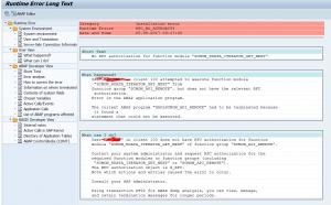 ST22 dump RFC_NO_AUTHORITY