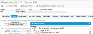 Custom IMG include in customer IMG spro setup