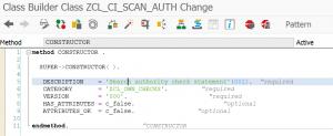 Custom SCI check change constructor