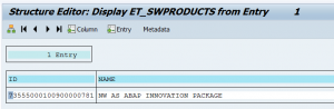 Installed products via OCS_GET_INSTALLED_SWPRODUCTS