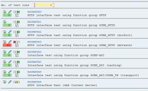 Test program RSCMST result screen