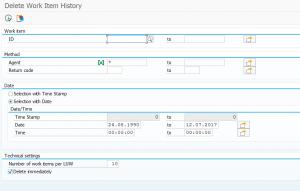 Delete workflow item history