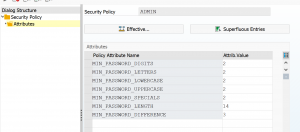 ADMIN security policy attributes