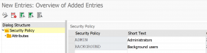 Create security policy
