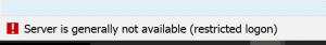 Server restricted logon