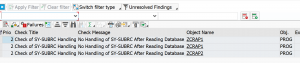 ATC results after baseline