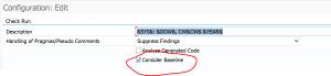 ATC run settings for baseline