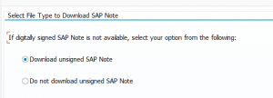 File type for SAP note