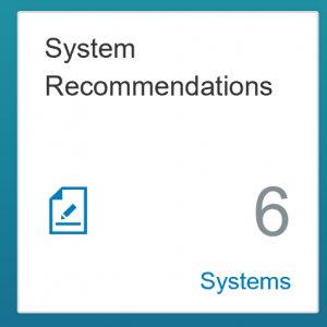 Fiori tile for system recommendations