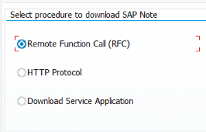 Note download procedure