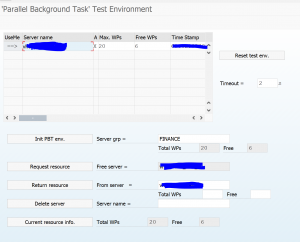 SPBT parallel background task test environment