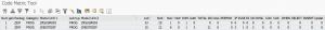 Code metric tool output