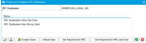 Configure RFC workflow local destination