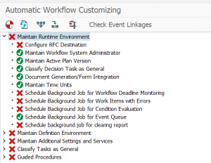 Status after automatic workflow customizing