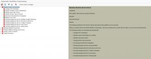 Workflow customizing start screen