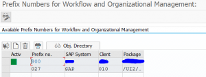 Workflow development setup 900 number range