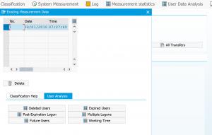 User data analysis
