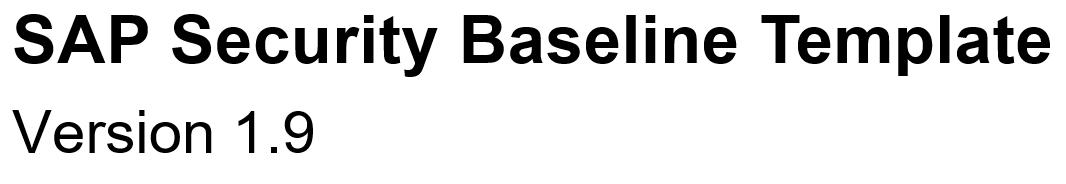 SAP security baseline template