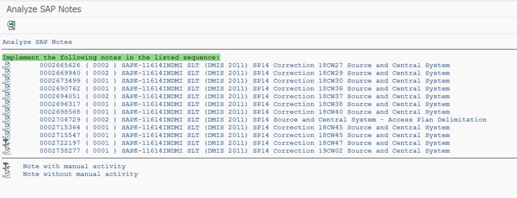 DMIS notes analyzer program output