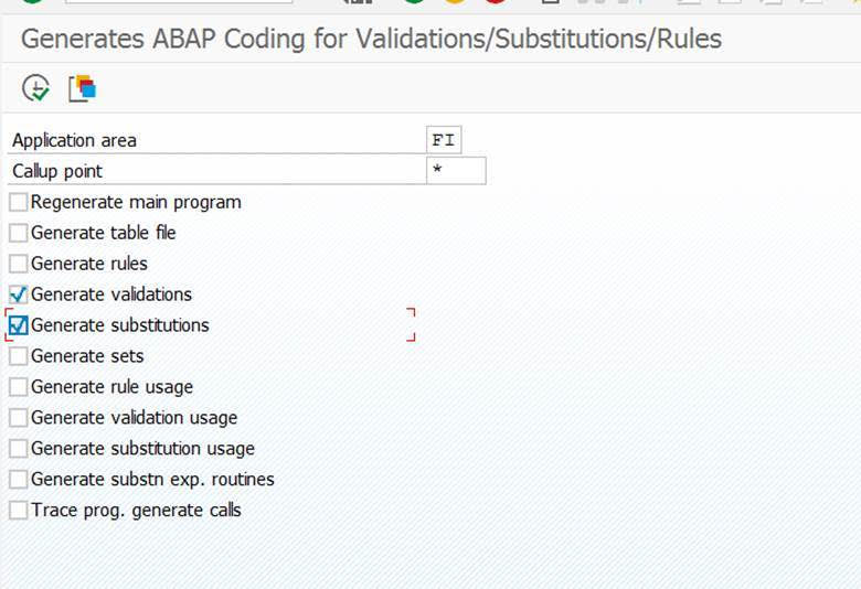 Substitutions and validations
