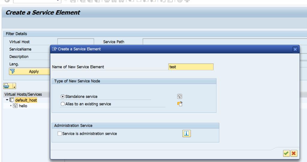 REST SICF create service